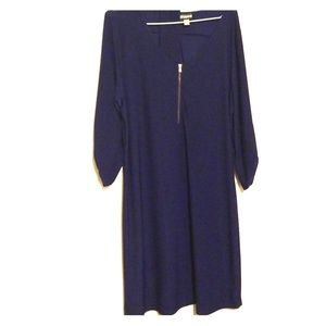 Haani ♡ Navy Blue Dress Sz XL w/Belt